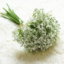 16pcs set Babies Breath Artificial Flowers Fake Gypsophila DIY Floral Bouquets Arrangement Wedding Home Garden Party Decoration cheap NoEnName_Null Silk Artificial Flowers Hybrid Flower Bouquet Christmas Plastic Decorative Flowers Wreaths Lavender 30cm