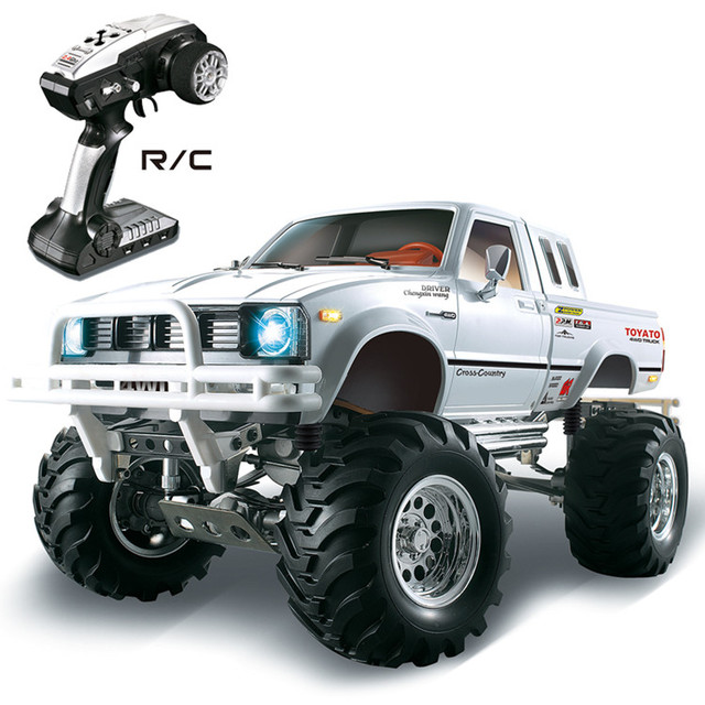 HG P407 1/10 2.4G 4WD 3CH Brushed Rally Rc Car for TOYATO Metal 4X 4 Pickup Truck Rock Crawler RTR Toy Black White Gifts Boys