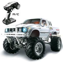 HG P407 1/10 2.4G 4WD 3CH 닦았 랠리 Rc 자동차 TOYATO 금속 4X 4 픽업 트럭 락 크롤러 RTR 장난감 블랙 화이트 선물 소년