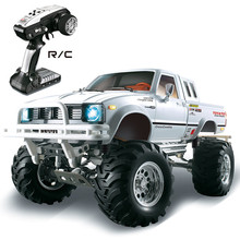 HG P407 1/10 2.4G 4WD 3CH מוברש ראלי Rc לרכב לtoyato מתכת 4X 4 טנדר משאית Rock Crawler RTR צעצוע שחור לבן מתנות בנים