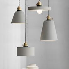 Modern Loft 8 Kinds Cement Pendant Lights Led Industrial Concrete Pendant Lamp Creative Art Hanging Lamps for Cafe Restaurant цена