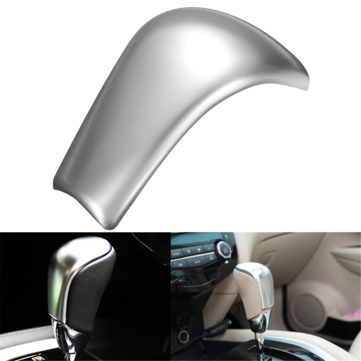 Cromado ABS de la cabeza de la perilla de la palanca de cambios del autom/óvil cromo mate Cubierta de la cabeza de la perilla del cambio de marcha del coche