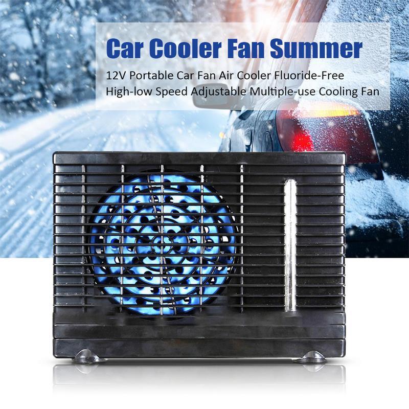 DC 12 V ventilateur de refroidissement de voiture Portable refroidisseur d'air sans fluorure vitesse réglable ventilateur de refroidissement à faible bruit ventilateur de voiture accessoires de voiture