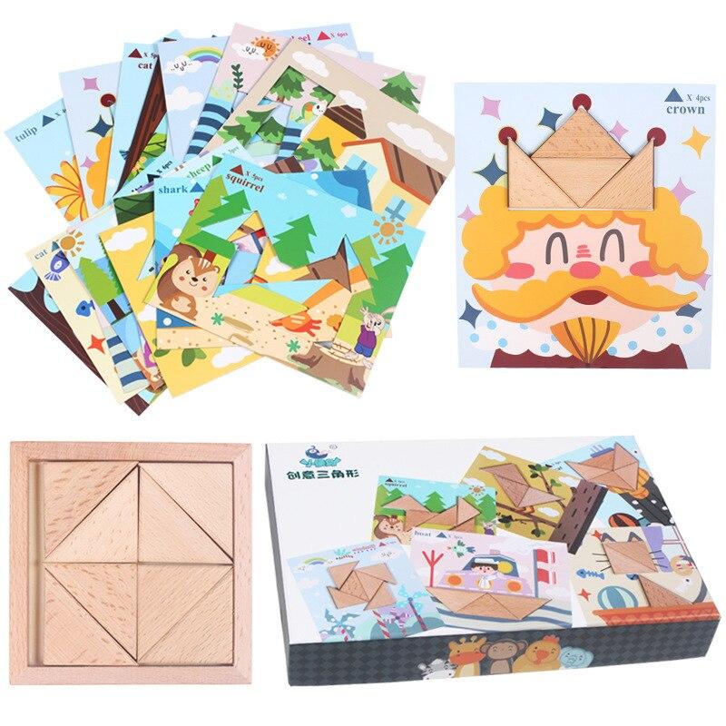 Puzzle en bois jouets pour enfants début jeu éducatif Montessori Oyuncak jouets pour garçons filles 49