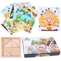 Wooden Jigsaw Toys For Children Early Educational Game Montessori Oyuncak Toys For Boys Girls 49
