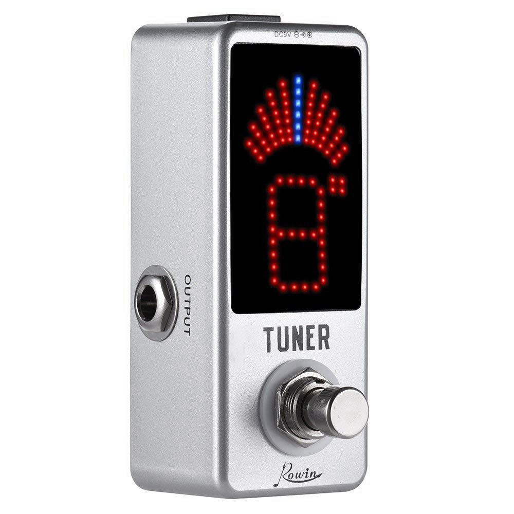 SEWS-Rowin High Precision Guitar Chromatic Tuner Pedal Ture Bypass