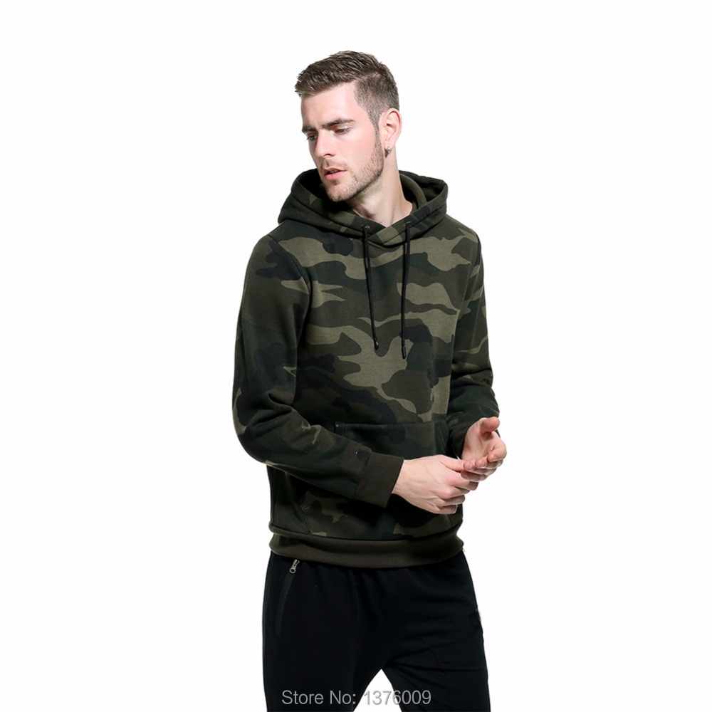 Men's Camouflage Hoodies Male Fashion Hip Hop High Streetwear Camo Hoody Sweatshirt Military Hoodie Drop Ship 2018