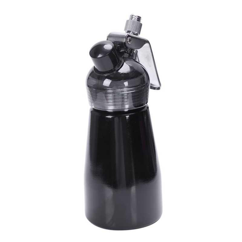 Venda quente 250 Ml De Creme De Alumínio Dispensador de Gourmet, Liquidificador, Bocal E Tubo de Plástico Pastelaria Decorativo Aço Inoxidável