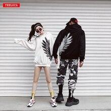 New 2018 street wear hoodies 프린트 스웨트 남성 캐주얼 브랜드 의류 phoenix wings 힙합 후드 탑 스웻 셔츠