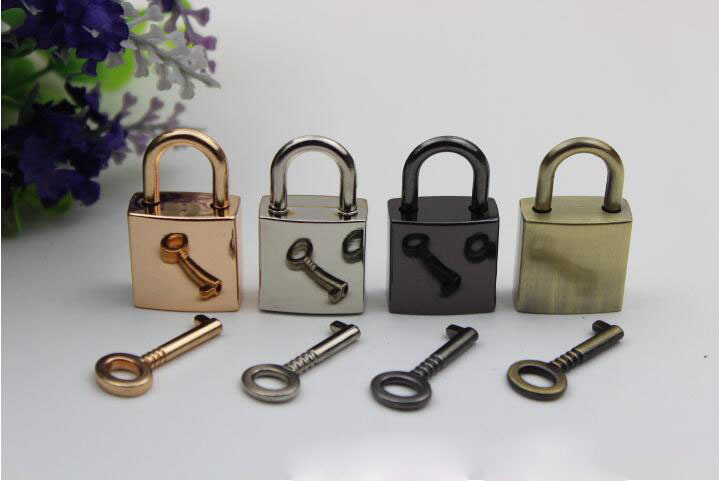 6pcs/ Lot Handbags Luggage Hardware Lock Bags Padlock Cabinet/ Drawer/box Metal Lock Bag Parts Buckle Button Wholesale