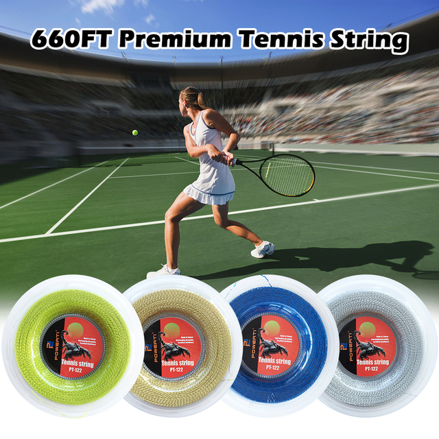 Powerful Tennis String 200M/660 FT Nylon Soft Resilient Tennis Racket Replacement String Tennis Trainng String Gym Sport Outdoor