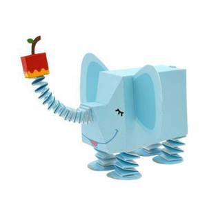 Paper-Model Puzzles Animal Elephant Craft-Card Educational DIY for Kindergarten Children