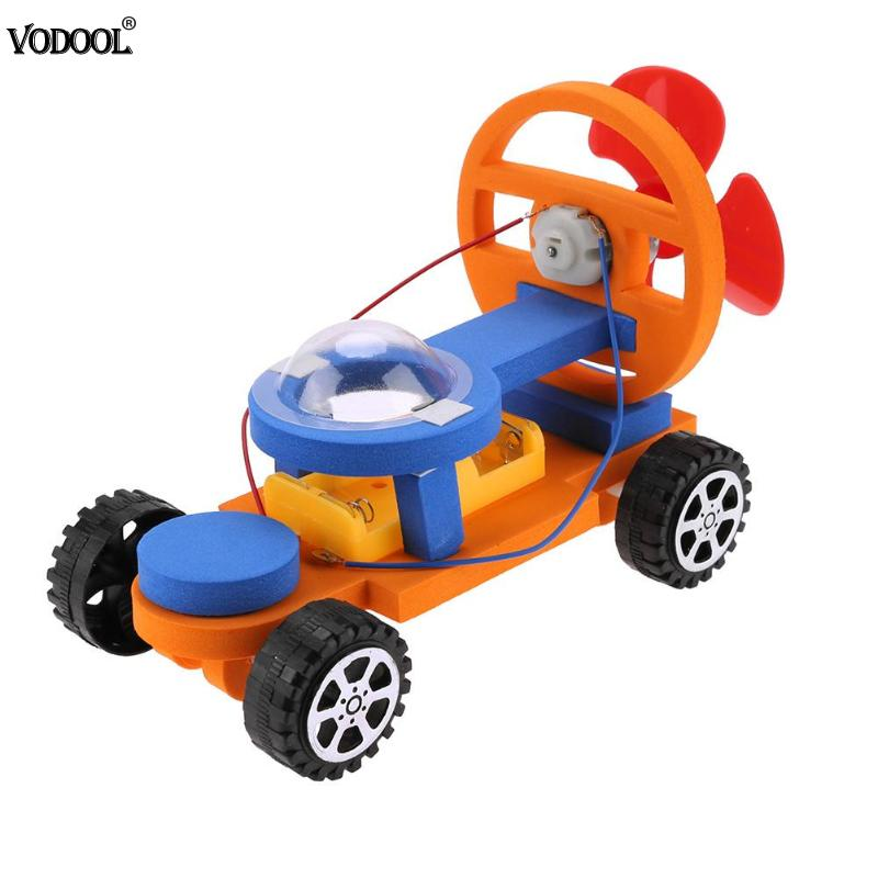 Kid DIY Educational Science F1 Electric Propulsion Racing Car Model Technology Electric Car Kit Toy Cute