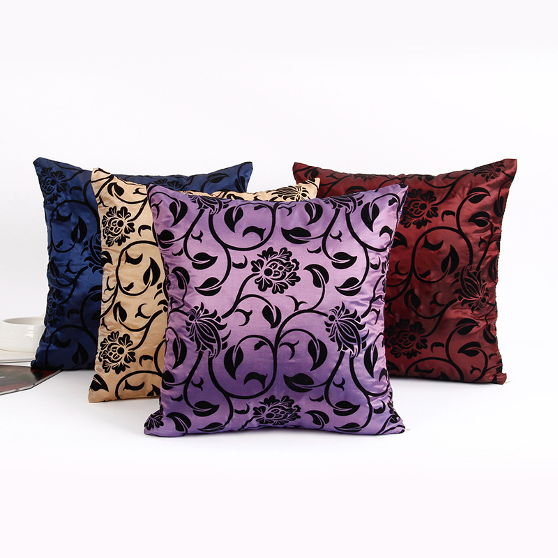 New Cationic Flocking Cushion Satin Magical Color Changing Throw Home Decor Cushion Cover Decorative Size 40x40cm Free Shipping