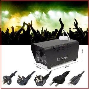 Image 5 - Mini máquina de humo de colores para discoteca, máquina de eyector de niebla con luz LED remota para fiestas de Navidad y dj, envío rápido