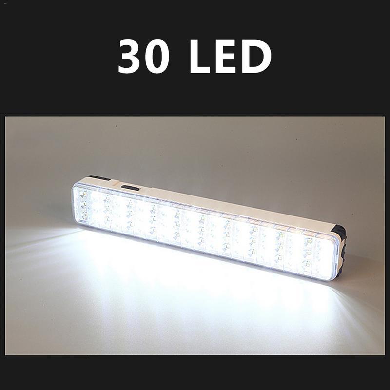 30/60 LED çok fonksiyonlu şarj edilebilir enerji ışık el feneri ev açık kamp için 2100mah lityum pil 2 modları 10m aralığı