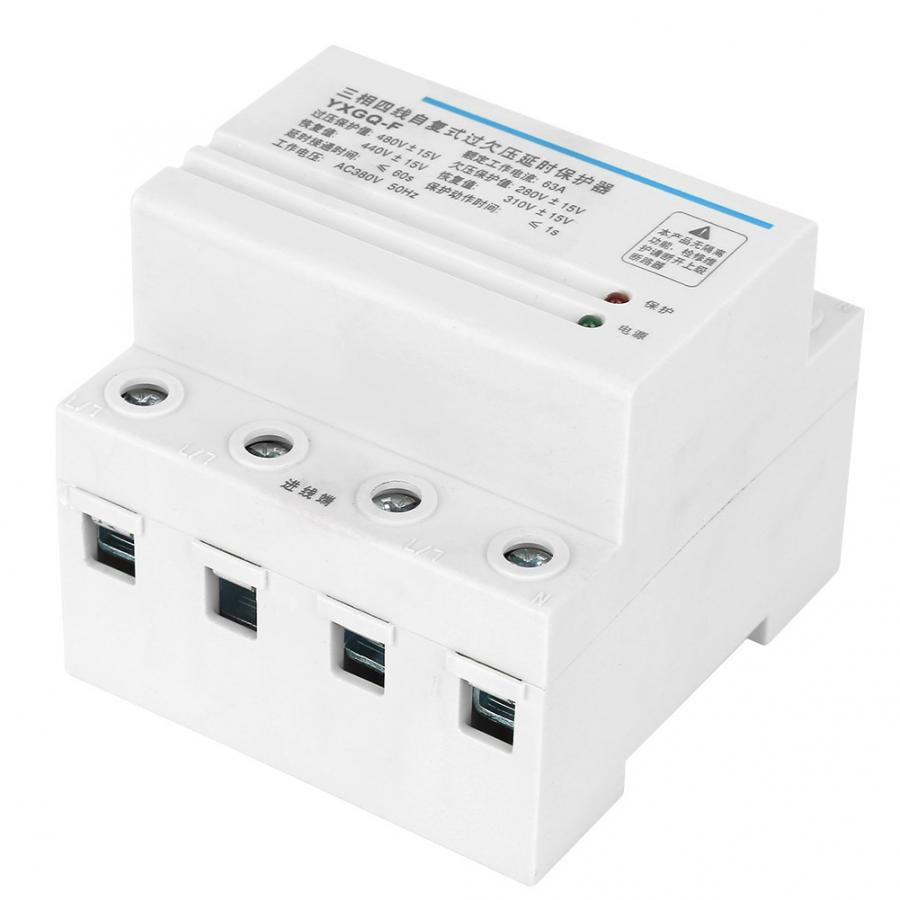 Overvoltage Undervoltage Protector 3-Phase 4-Wire Power Protection Equipment 63A for Pumps Machine Tools Voltage Protective Device