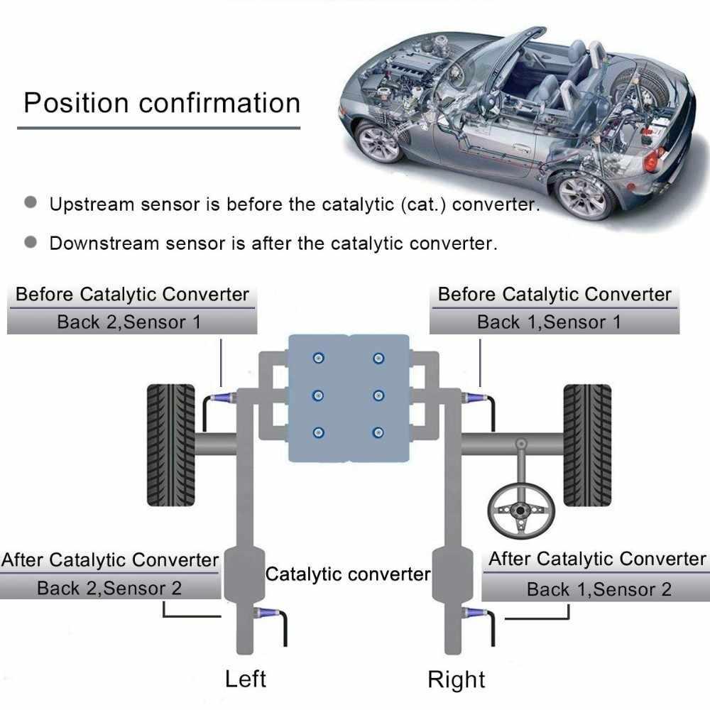 SPEEDWOW 4-Wrie sonda Universal Lambda Sensor de oxígeno O2 234-4209 Sensor de oxígeno de Gas de escape O2 oxígeno para Toyota Chevrolet
