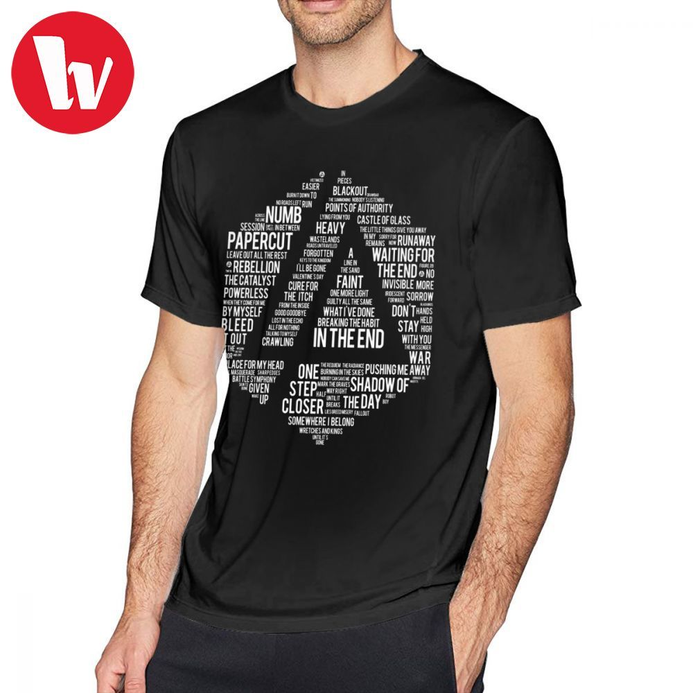 Linkin Park T Shirt New Art Linkin Park All Name Full Album T-Shirt Casual Funny Tee Shirt Mens Short Sleeves Graphic Tshirt