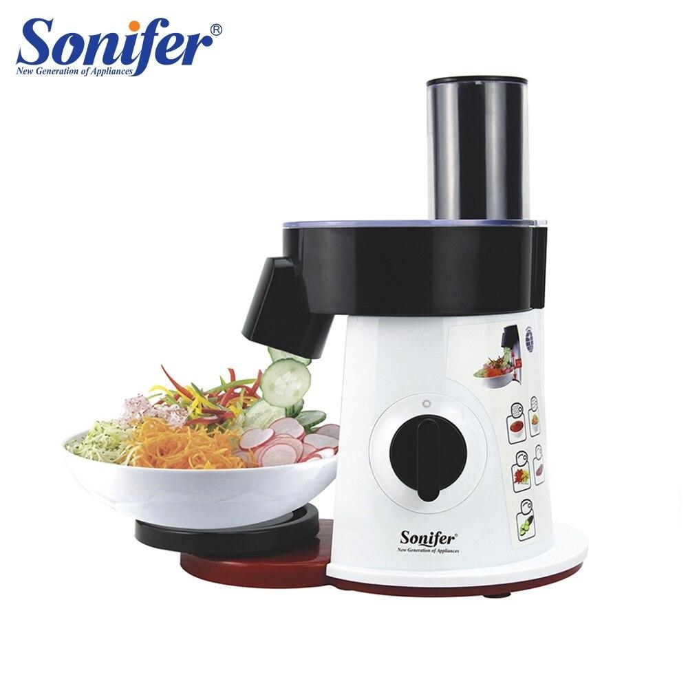 Food Processor Vegetable Cutter Round Electric Slicer Grater Potato Carrot Shredder Slicer Vegetable Chopper for Kitchen Sonifer