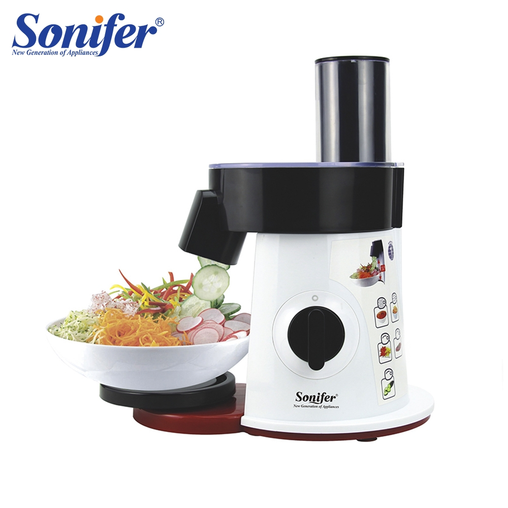 Food Processor Vegetable Cutter Round Electric Slicer Grater Potato Carrot Shredder Slicer Vegetable Chopper for Kitchen Sonifer