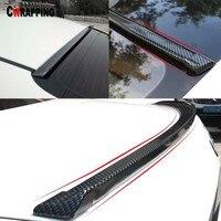 Car Rear Wing Lip Spoiler Carbon Fiber Soft Rubber DIY Refit Exterior Car Styling For Tail Trunk Roof Trim Kit Accessorie