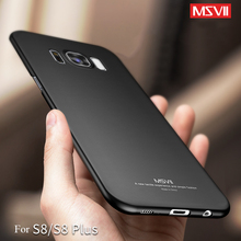 Original MSVII Luxury Oil-painted Case for Samsung Galaxy S8 & S8 PLUS Hard PC Simple/Matte Cover Shell Slim Phone Protector