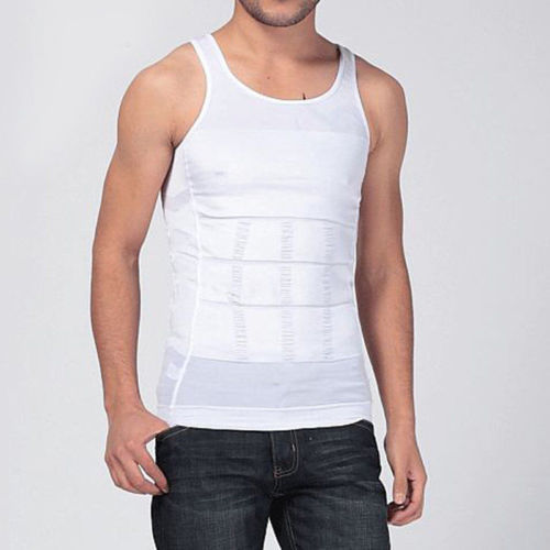 Men Shapers Summer Solid Sleeveless Firm Tummy Belly Buster Vest Control Slimming Body Shaper Underwear Shirt 6