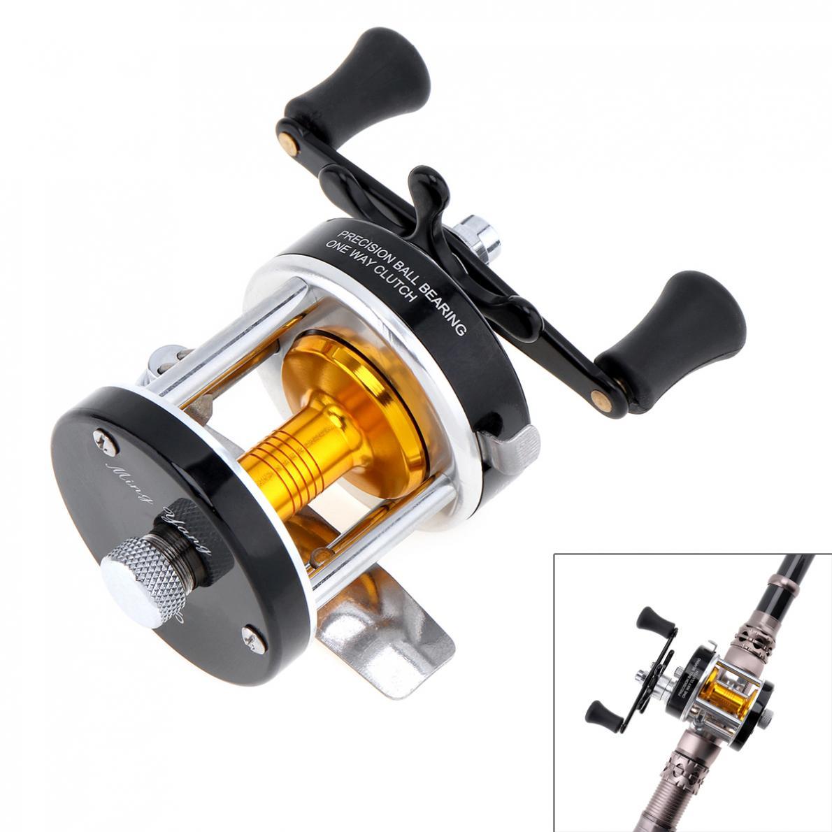 Metal Drum Fishing Reel Gear Ratio 3.8:1 Right Hand Trolling Reel Casting Sea Fishing Reel Saltwater Bait Casting Reel Coil