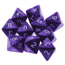 10 pcs D8 8 Corta Poliédrico Lados Acrílico Set Para RPG Dungeons And Dragons MTG(China)