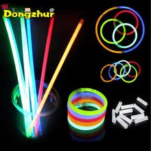 100Pcs Glow Sticks Light Bracelets Necklace Glow in The Dark Birthday Christmas Party Supplies Luminous Prop Toys