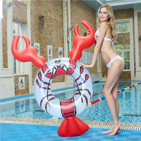 160*95*90cm Circle Inflatable lobster Pool Floats Tube Raft Swimming Ring Kids Adult Beach Summer Water Party inflatable Toys