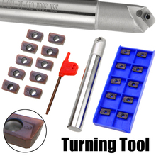 1 Set CNC Lathe Turning Tool SSK C16-16-110 Chamfering Drill Tool Holder Boring Bar + 10pcs APMT1135PDER Inserts with Wrench