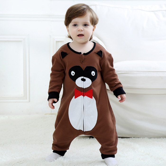 2018 Newborn Clothes Baby Dress Clothing Boys Girls Jumpsuit Hoodie Romper Outfit Long Sleeve Creepers Bodysuit Costume For Kids