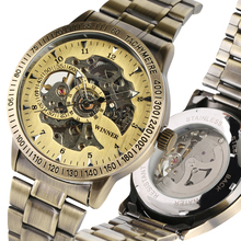 лучшая цена Automatic-self-winding Watches Business Style Mechanical Watch Stainless Steel Band Men Clock Gift Relogio Automatico Masculino