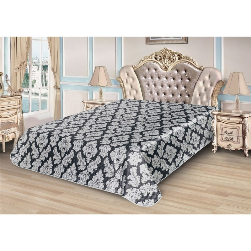 Bedspread Ethel Silk Velvet, size 220*240 cm, faux Silk 100% N/E bedspread ethel silk lace size 180 220 cm faux silk 100% n e