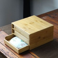 Square Wooden Puer Tea Box Storage Container Bulk Products Kung Fu Tea Trays Carved Teaware Organizer Casket Chest Gift