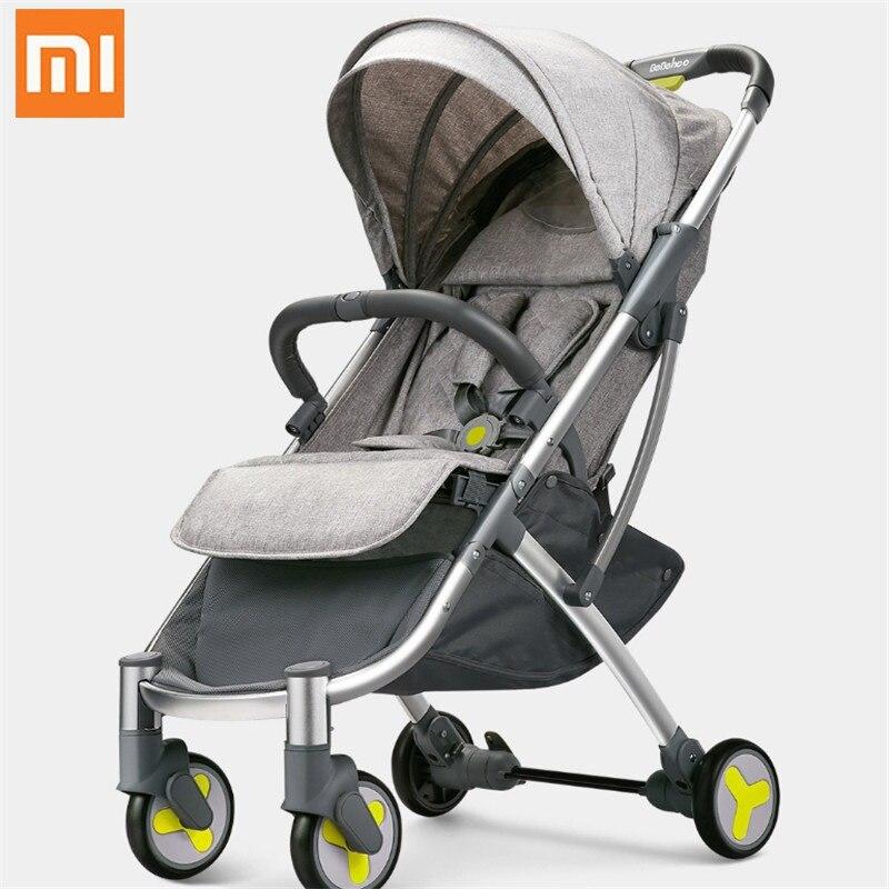 Cochecito de paisaje alto Xiaomi youpin de dos vías puede sentarse reclinable Ultra ligero portátil de choque plegable de cuatro ruedas carrito de bebé