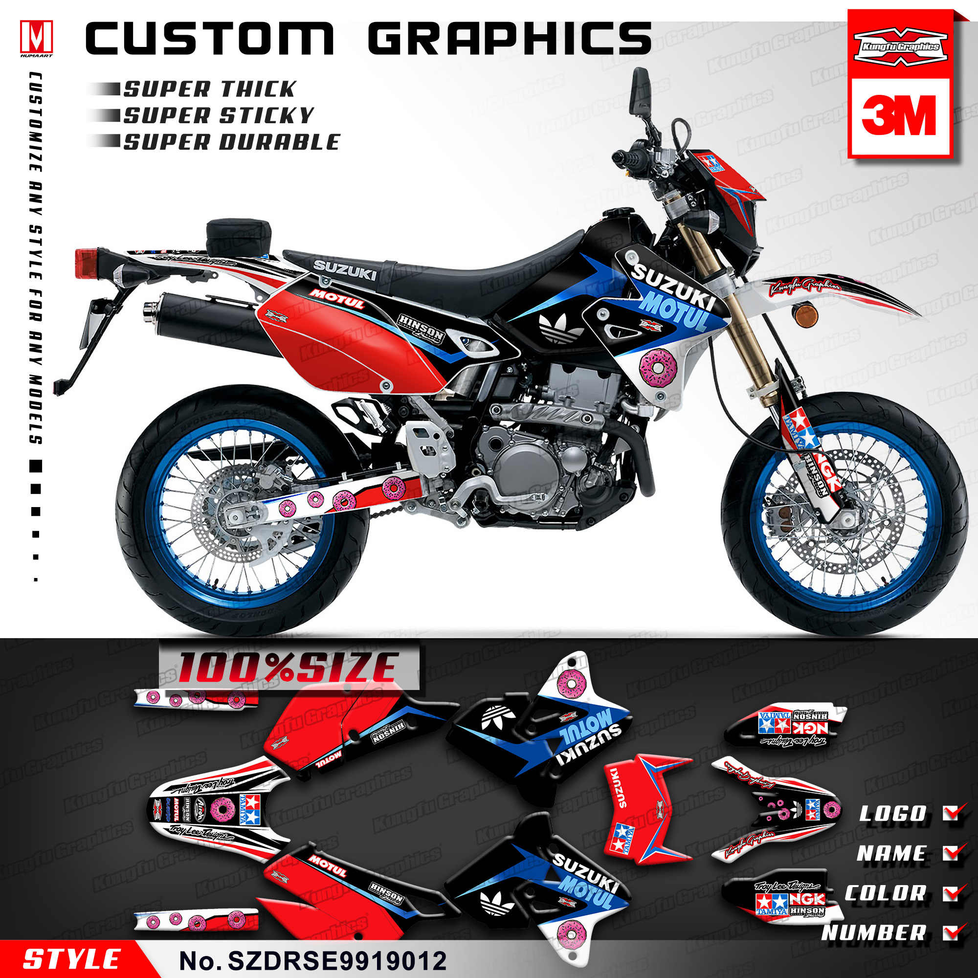 Wondrous Kungfu Graphics Dirt Bike Stickers Motorcycle Decals Kit For Gmtry Best Dining Table And Chair Ideas Images Gmtryco