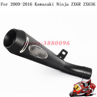 Integrated installation Exhaust For Kawasaki ZX6R ZX636 Motorcycle Exhaust Muffler Modified Stainless steel Moto Escape Slip on