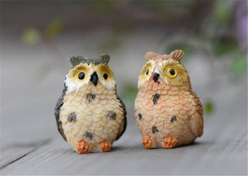 New 100Pcs Landscape Owl Doll Resin Fairy Home Garden DIY Decor Micro Ornaments Decoration