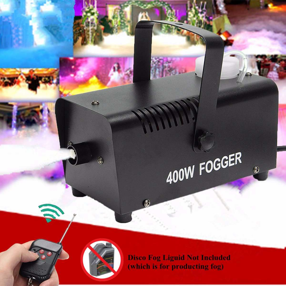 400W Fog Smoke Mist Machine Stage Effect Disco DJ Party Christmas with Remote Control400W Fog Smoke Mist Machine Stage Effect Disco DJ Party Christmas with Remote Control