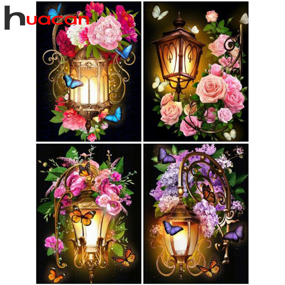 Huacan 5d Diamond Painting Flower Full Square Embroidery Sale Rhinestone Picture 5D Mosaic