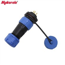 SP17 Waterproof Connectors Aviation Plug 17MM Male And Female Rear Nut Socket Connector 5 Pin Protective Plug IP68 New Arrivals