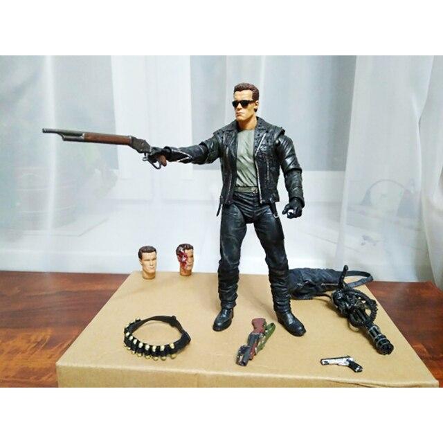 Neca Terminator Judgment Day T T-800 2 Arnold Schwarzenegger Ação Pvc Modelo Figura Toy Presente de Natal