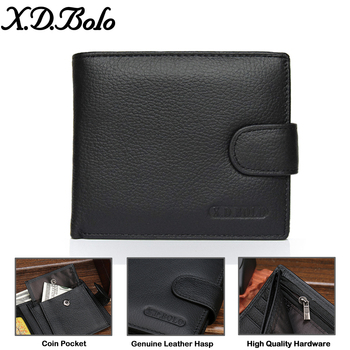 X.D.BOLO Wallet Men Leather Genuine Cow Leather Man Wallets 1