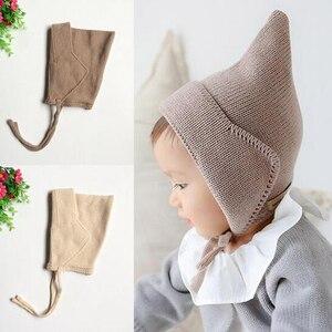 Outono & Inverno Bonito Chapéu Do Bebê Gorros Bebes Crochê Beanie Cap Criança para 3-8 Meses Do Bebê Da Menina do Menino foto Adereços Hot XL45
