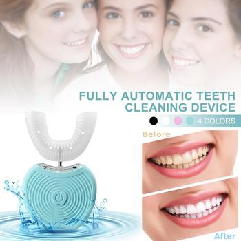 Intelligent Automatic 360 Degrees Smart Toothbrush U Type Tooth Brush USB Charging Tooth Teeth Whitening Beauty Instrument