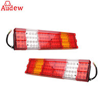 2pcs Car Led Rear Tail Lights Reverse Lamp Stop Light For Scania Daf Man Iveco 24V Truck Lorry Trailer