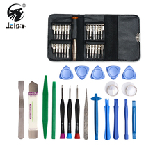 Jelbo 45 in 1 Mobile Phone Repair Tools Kit Pry Opening Tool Screwdriver Set for iPhone Samsung Mobile Phone Tablet PC Small Toy